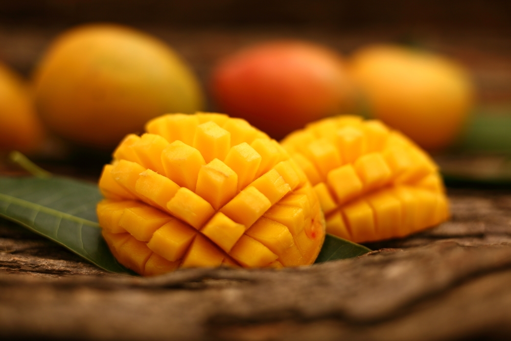 mangoes on table
