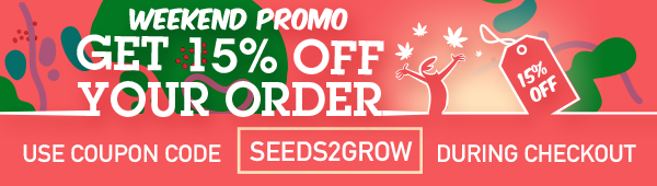 Get 15% off, use coupon code: seeds2grow during checkout