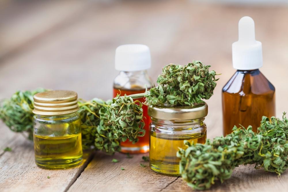 line up of medical marijuana products